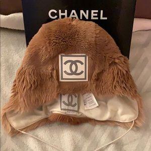 Chanel Kangaroo Fur Hat sz M